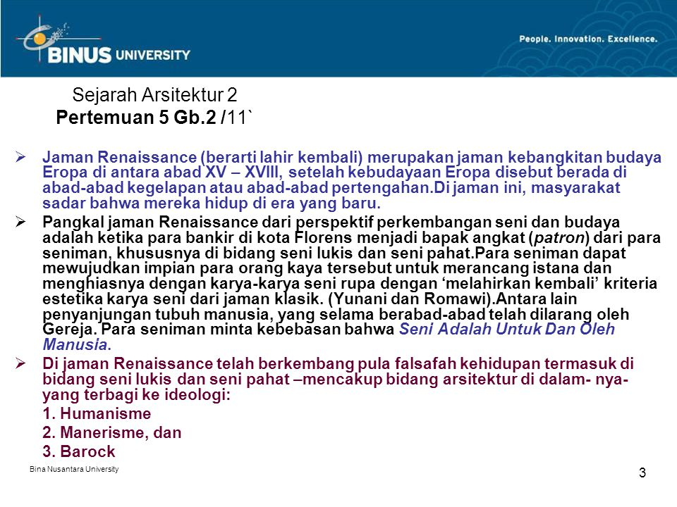 Sejarah Arsitektur 2 Pertemuan 5 Gb.2 /11`