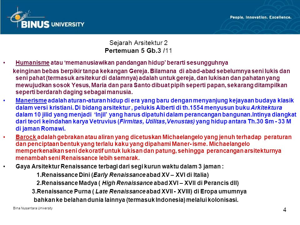 Sejarah Arsitektur 2 Pertemuan 5 Gb.3 /11