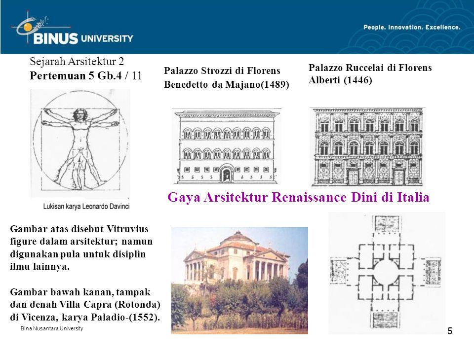 Gaya Arsitektur Renaissance Dini di Italia