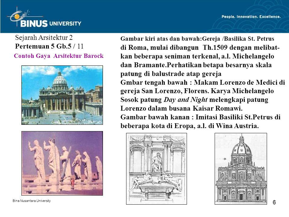 Sejarah Arsitektur 2 Pertemuan 5 Gb.5 / 11