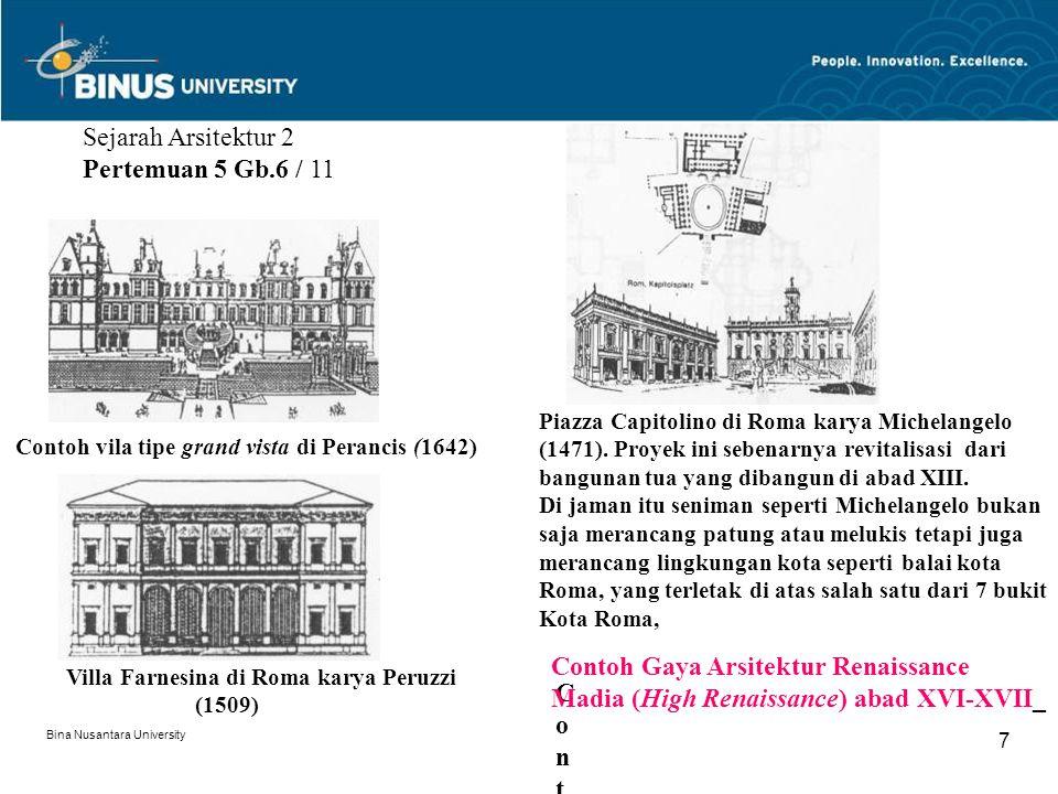 Sejarah Arsitektur 2 Pertemuan 5 Gb.6 / 11
