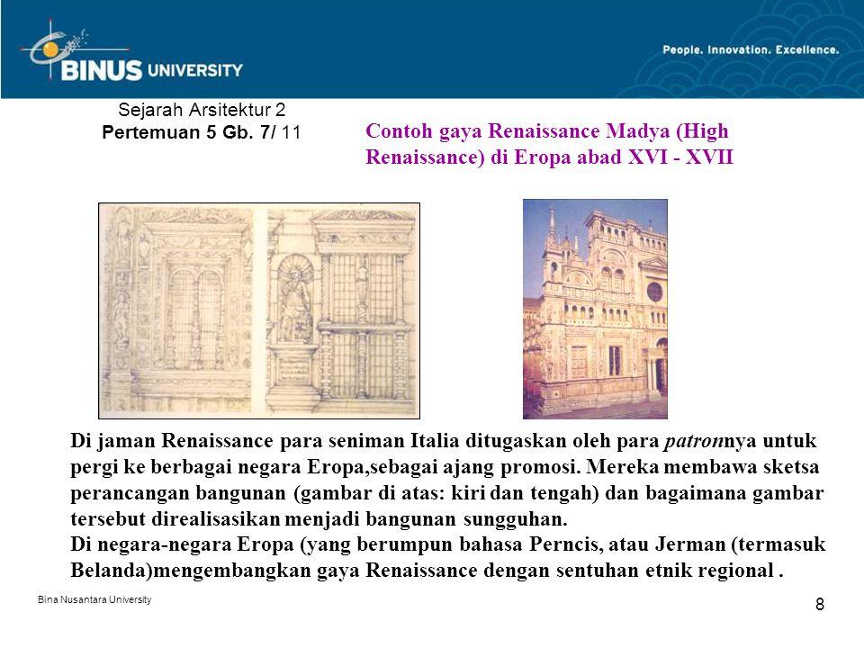 Sejarah Arsitektur 2 Pertemuan 5 Gb. 7/ 11