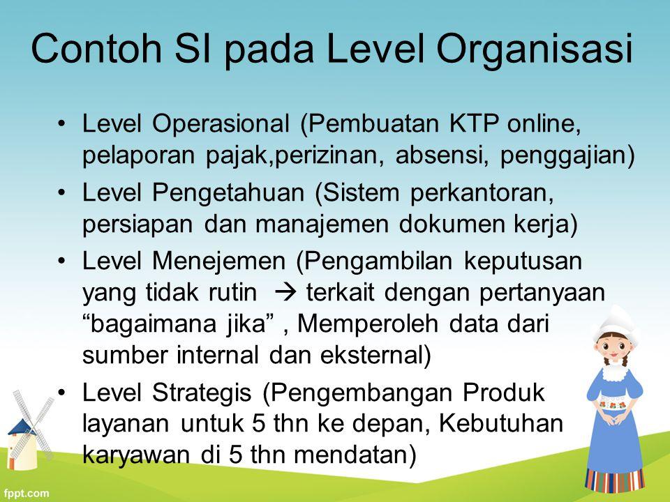 Contoh SI pada Level Organisasi