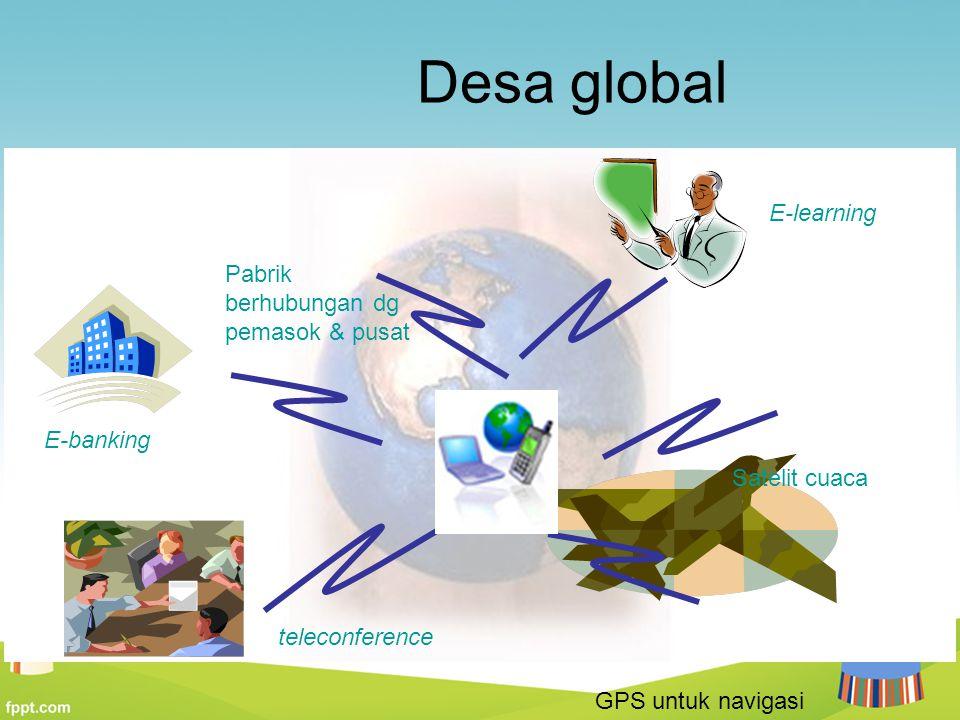 Desa global E-learning Pabrik berhubungan dg pemasok & pusat E-banking