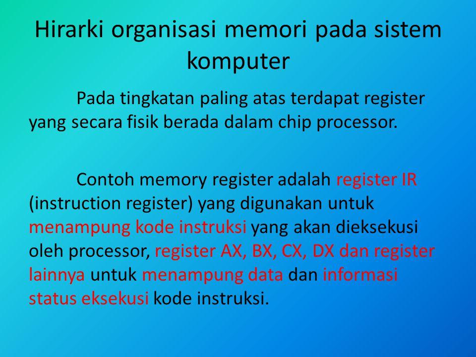 Hirarki organisasi memori pada sistem komputer