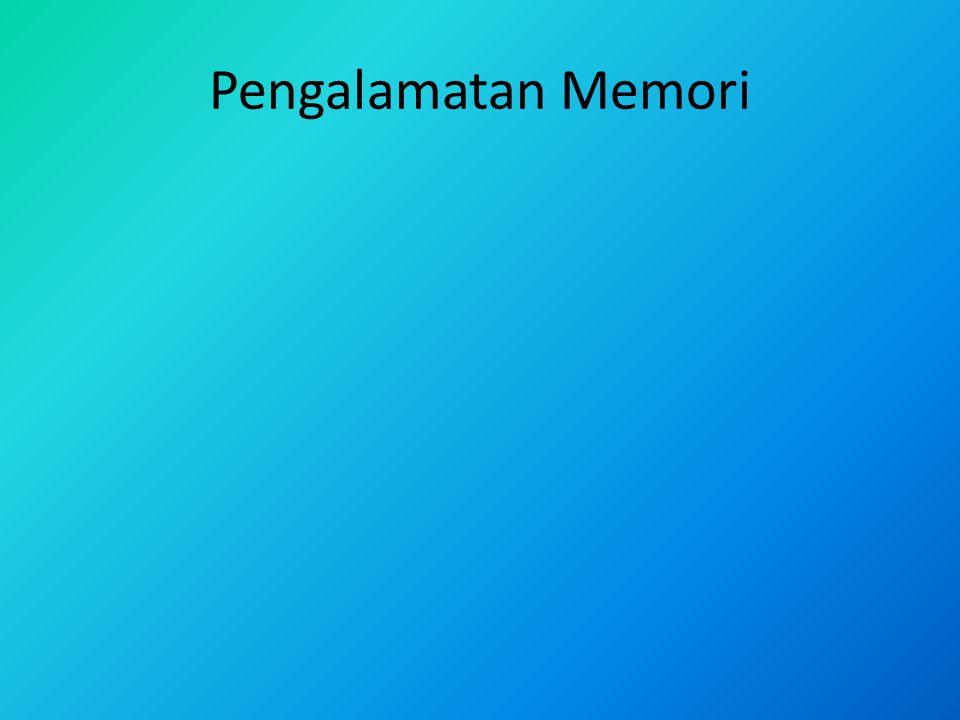 Pengalamatan Memori
