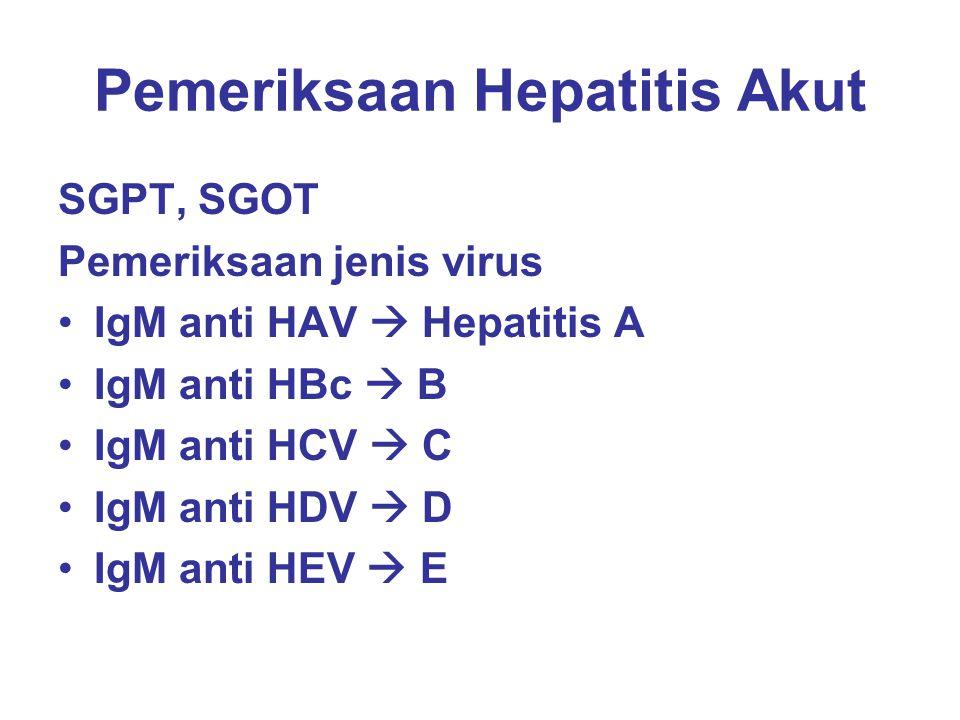 Pemeriksaan Hepatitis Akut