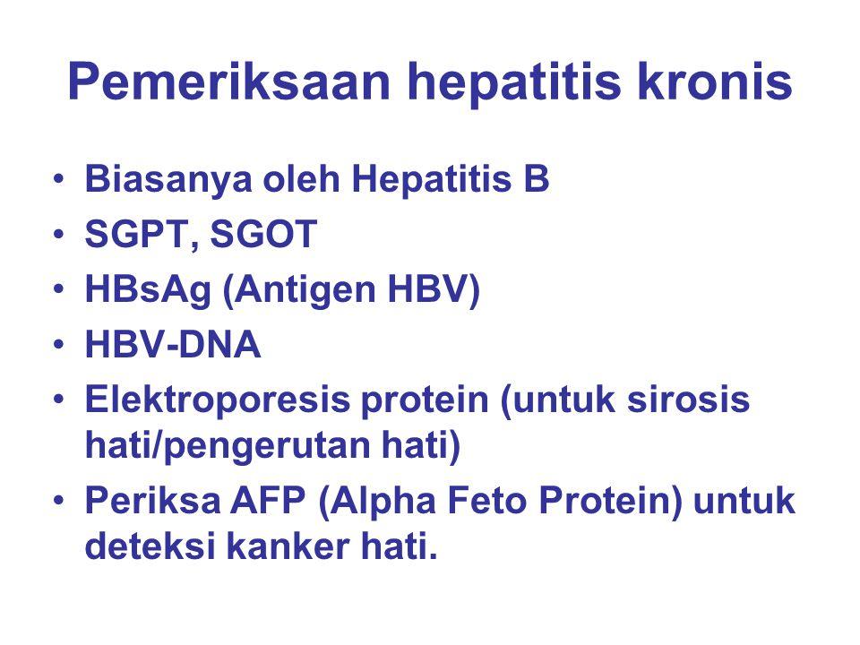 Pemeriksaan hepatitis kronis