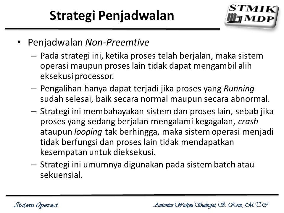 Strategi Penjadwalan Penjadwalan Non-Preemtive