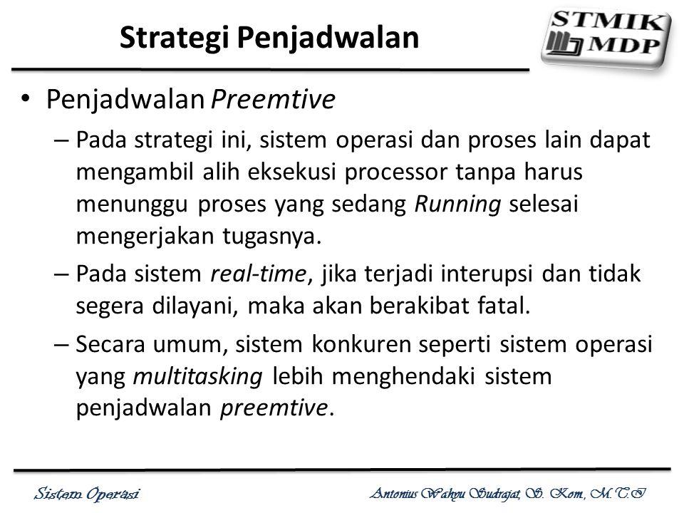 Strategi Penjadwalan Penjadwalan Preemtive