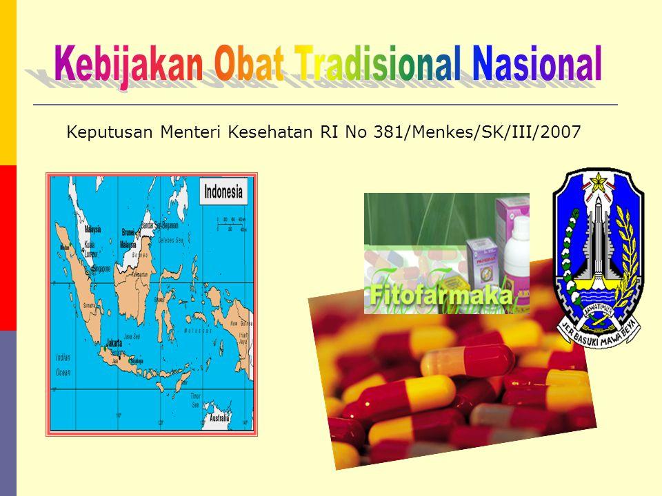Kebijakan Obat Tradisional Nasional