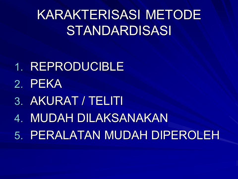 KARAKTERISASI METODE STANDARDISASI