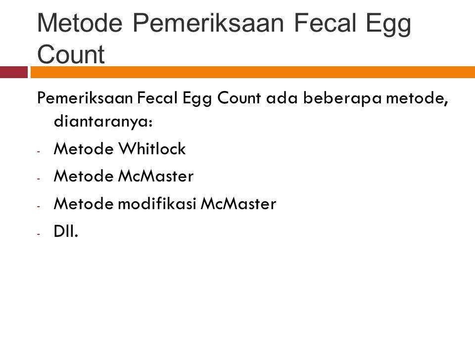 Metode Pemeriksaan Fecal Egg Count
