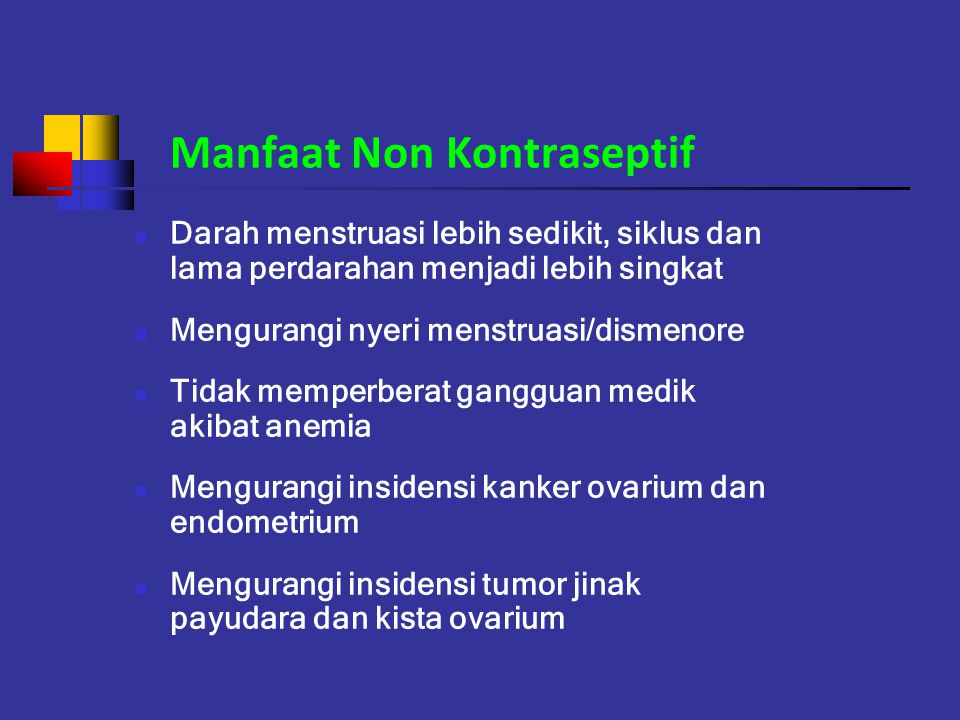 Manfaat Non Kontraseptif