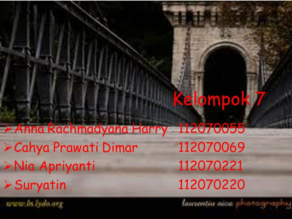 Kelompok 7 Anna Rachmadyana Harry 112070055