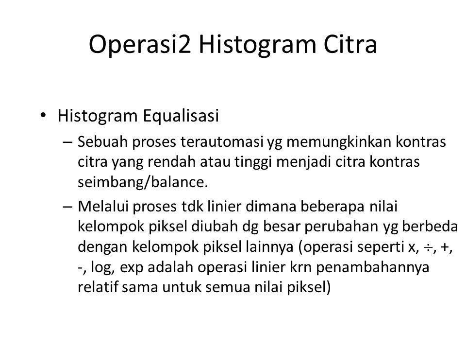Operasi2 Histogram Citra