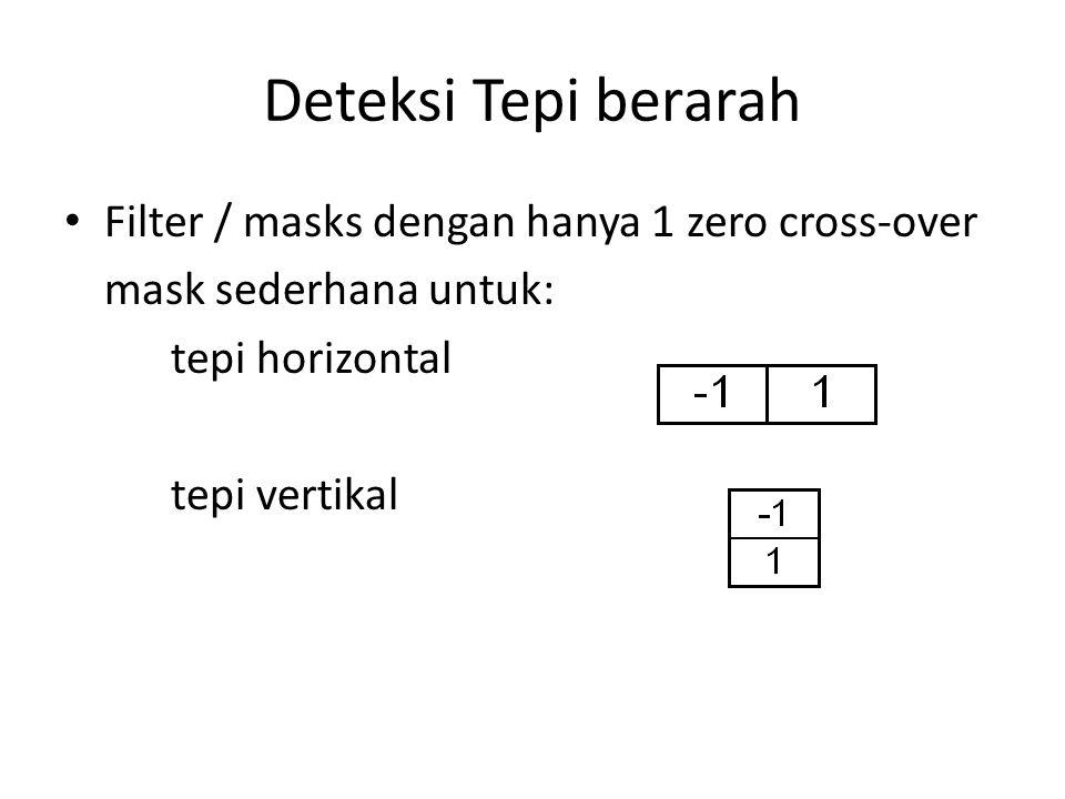 Deteksi Tepi berarah Filter / masks dengan hanya 1 zero cross-over