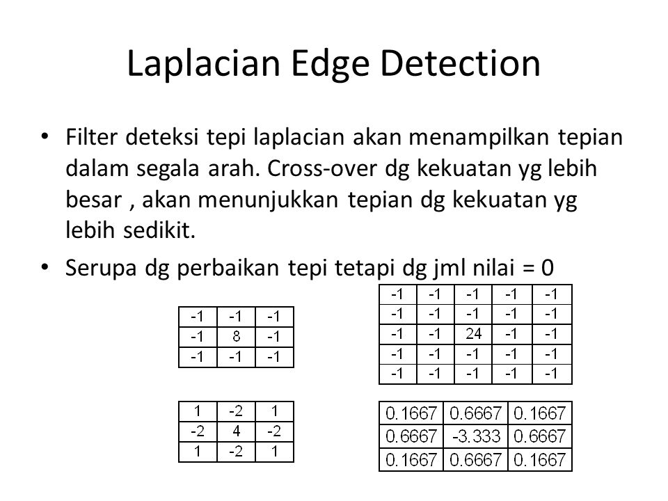 Laplacian Edge Detection