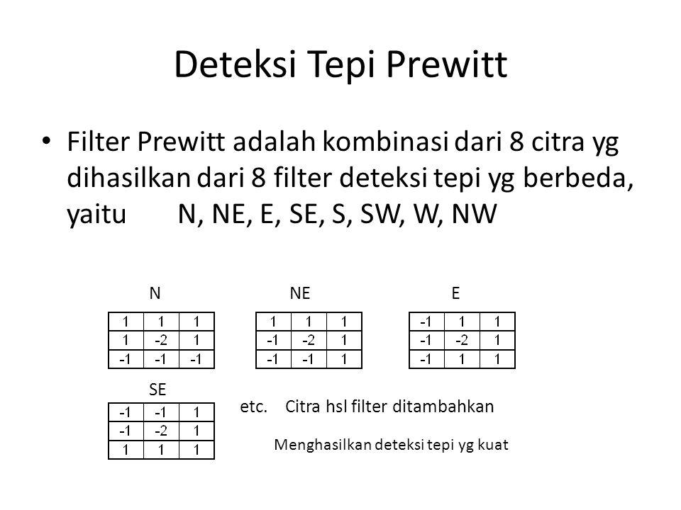 Deteksi Tepi Prewitt