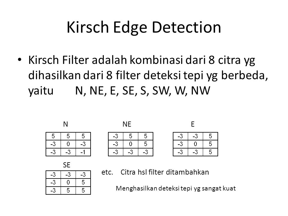 Kirsch Edge Detection