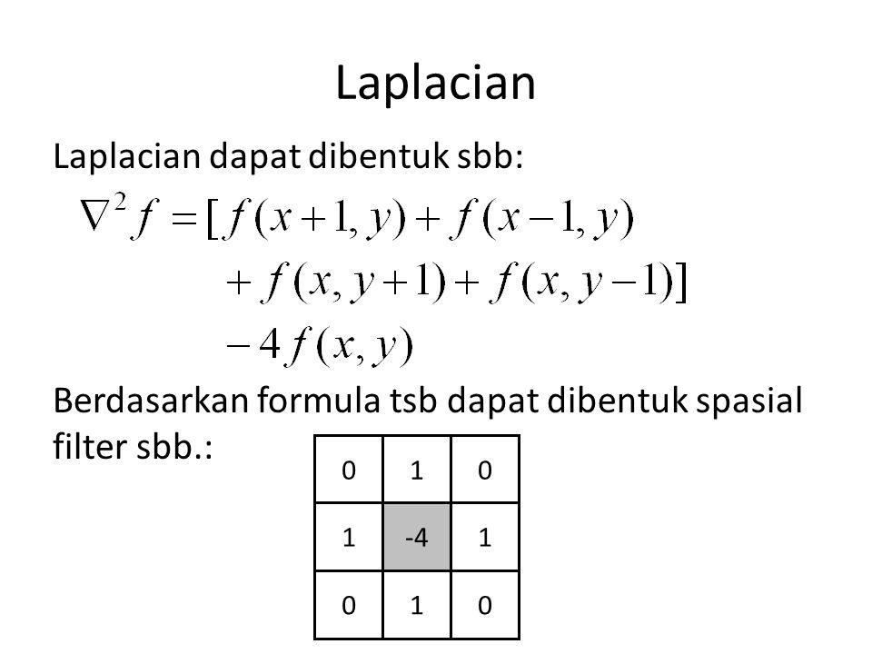 Laplacian Laplacian dapat dibentuk sbb: