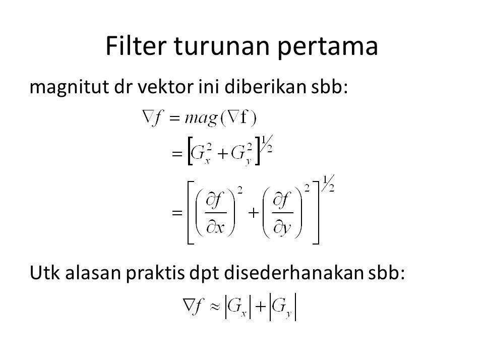 Filter turunan pertama