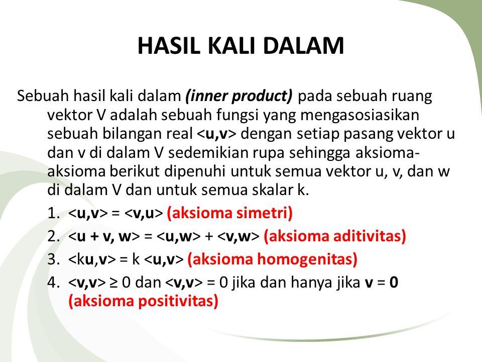 HASIL KALI DALAM