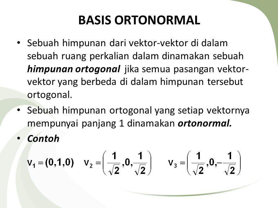 BASIS ORTONORMAL