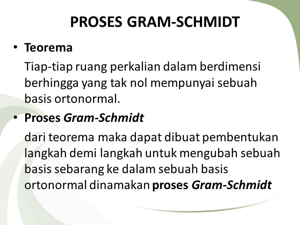 PROSES GRAM-SCHMIDT Teorema