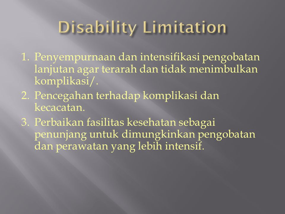 Disability Limitation