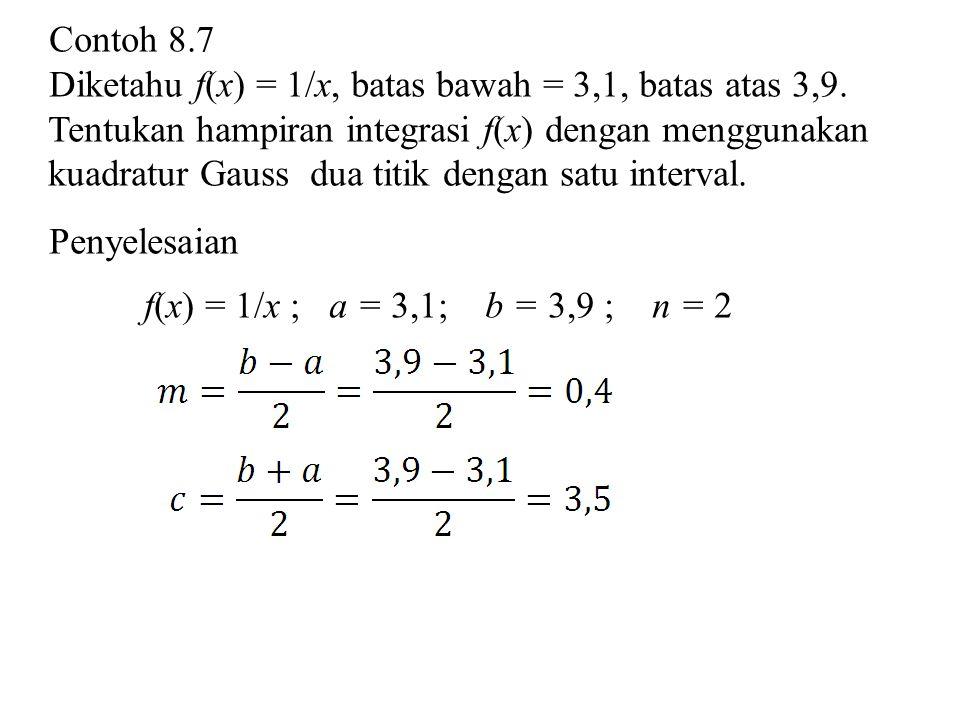 Contoh 8.7