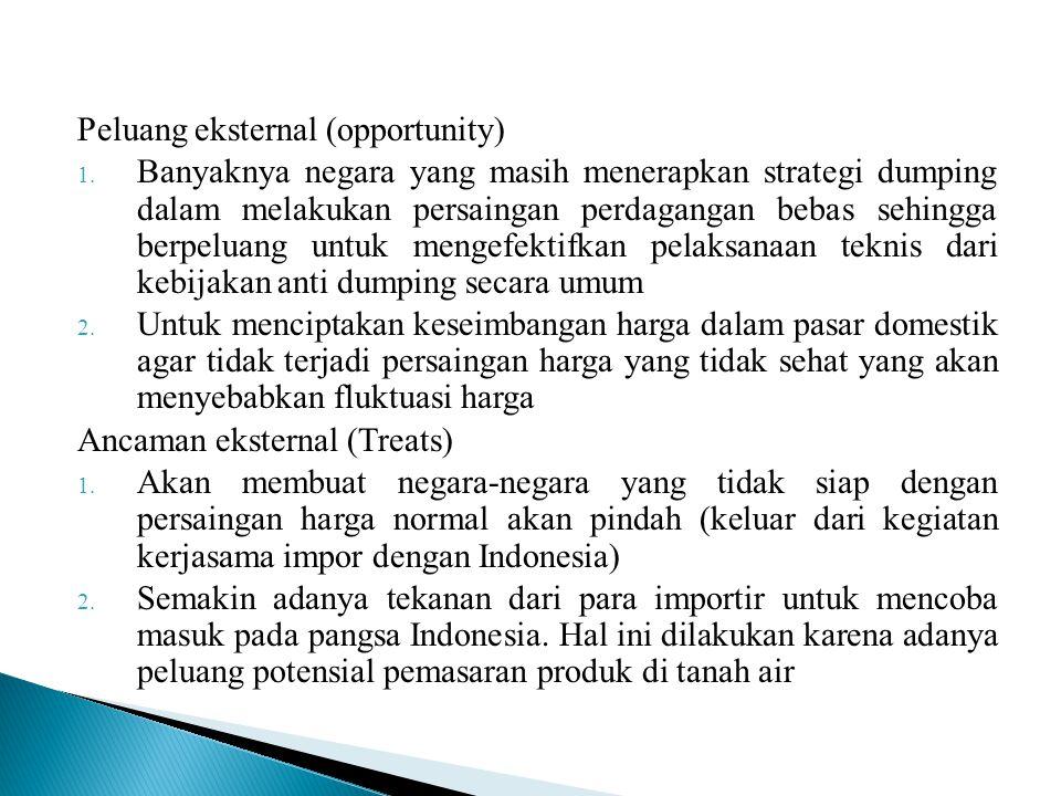 Peluang eksternal (opportunity)