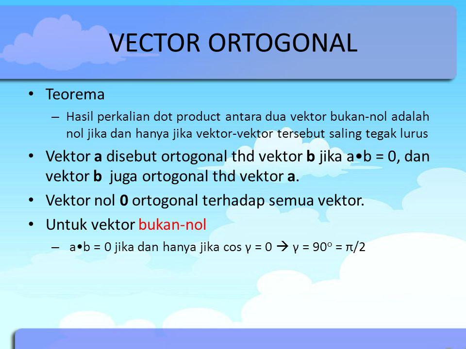 VECTOR ORTOGONAL Teorema
