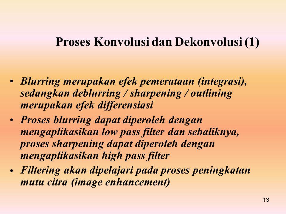 Proses Konvolusi dan Dekonvolusi (1)