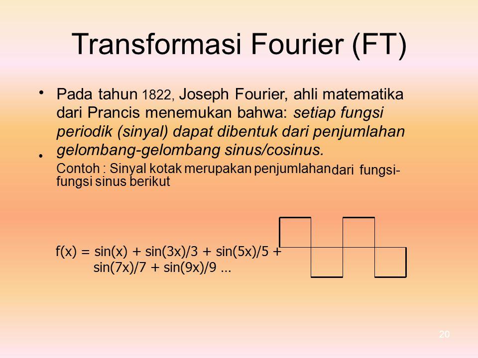 Transformasi Fourier (FT) •