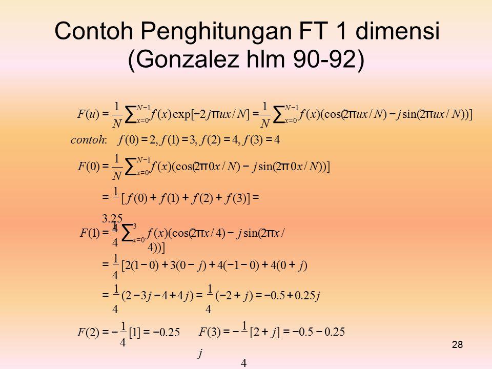 Contoh Penghitungan FT 1 dimensi