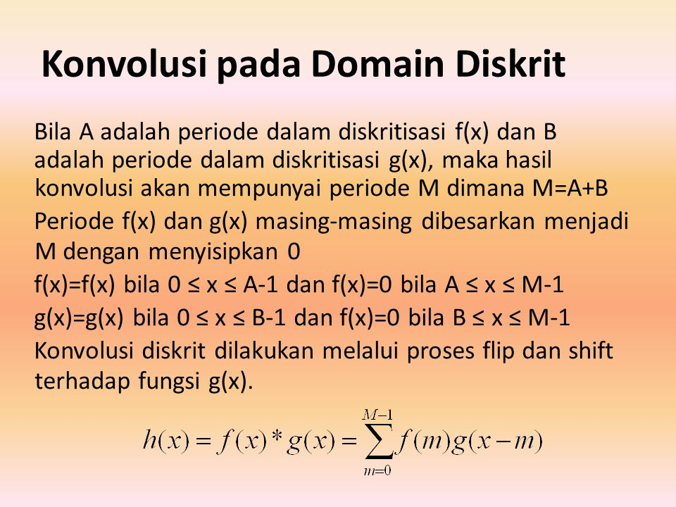 Konvolusi pada Domain Diskrit