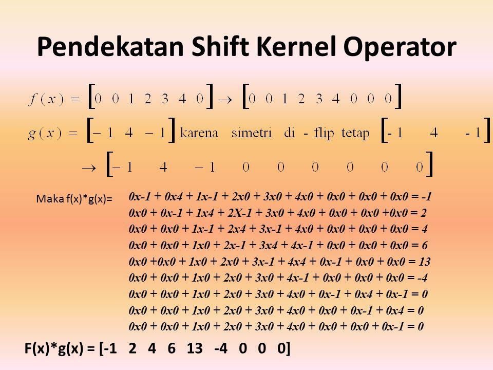 Pendekatan Shift Kernel Operator