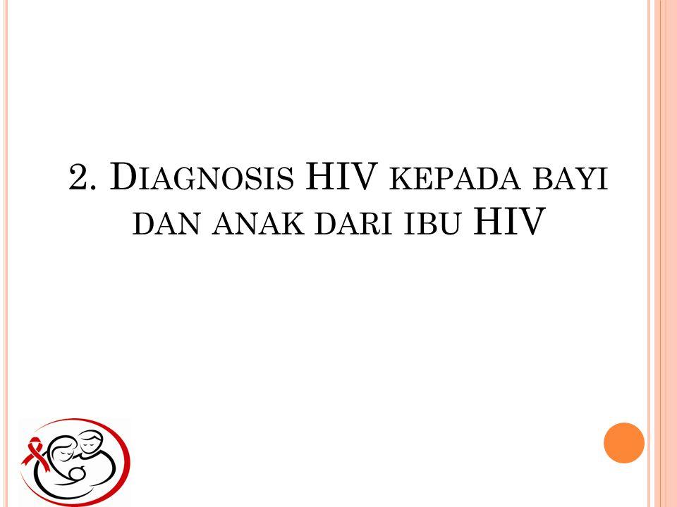 2. Diagnosis HIV kepada bayi dan anak dari ibu HIV