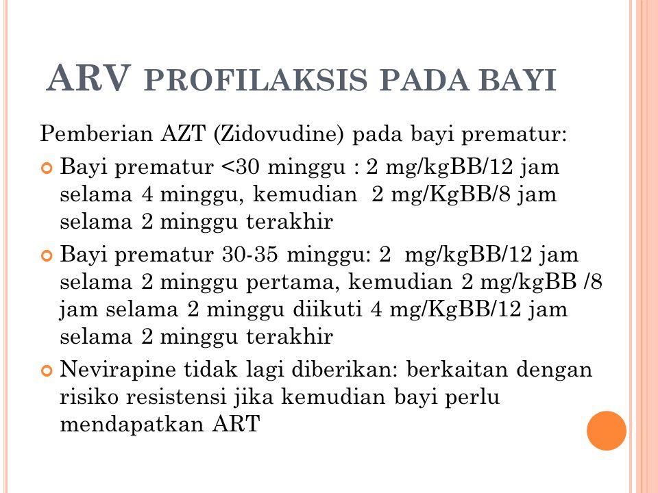 ARV profilaksis pada bayi