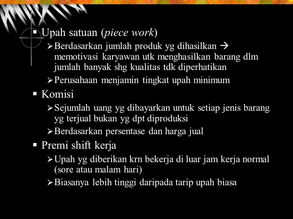 Upah satuan (piece work)