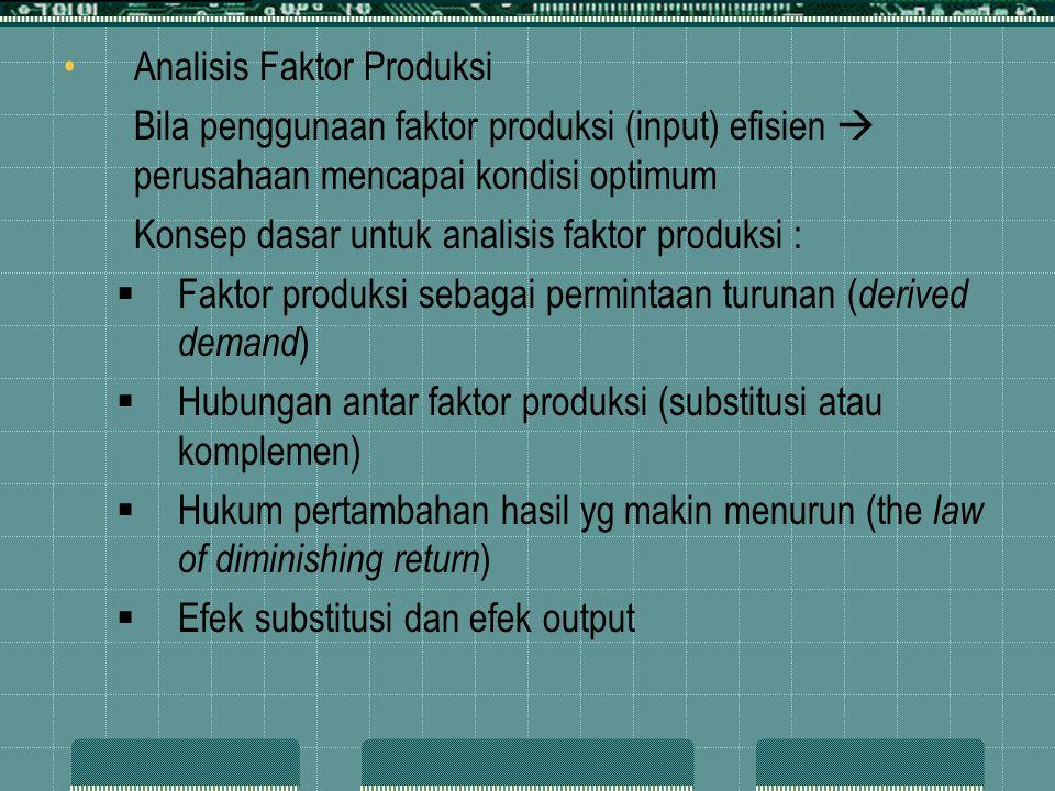 Analisis Faktor Produksi