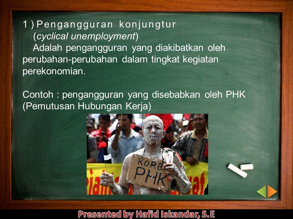 1 ) Pengangguran konjungtur
