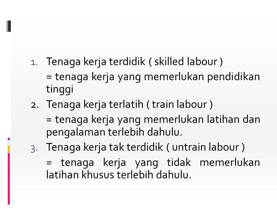 Tenaga kerja terdidik ( skilled labour )
