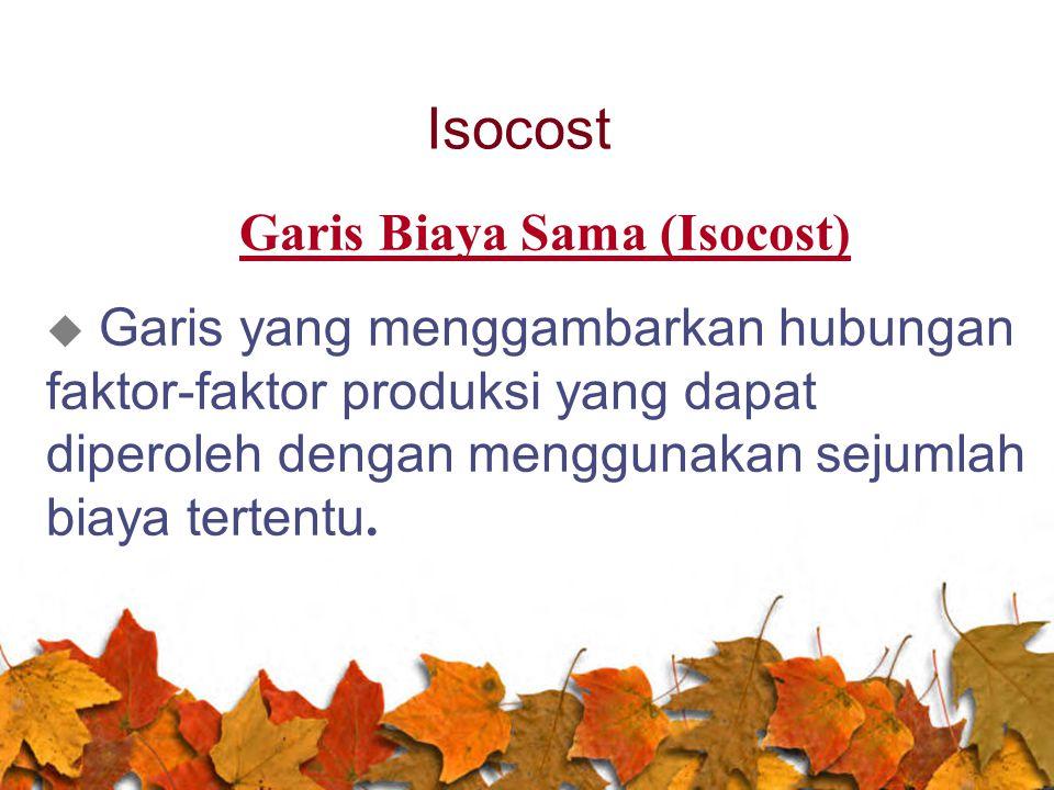 Garis Biaya Sama (Isocost)