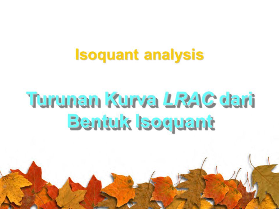 Turunan Kurva LRAC dari Bentuk Isoquant