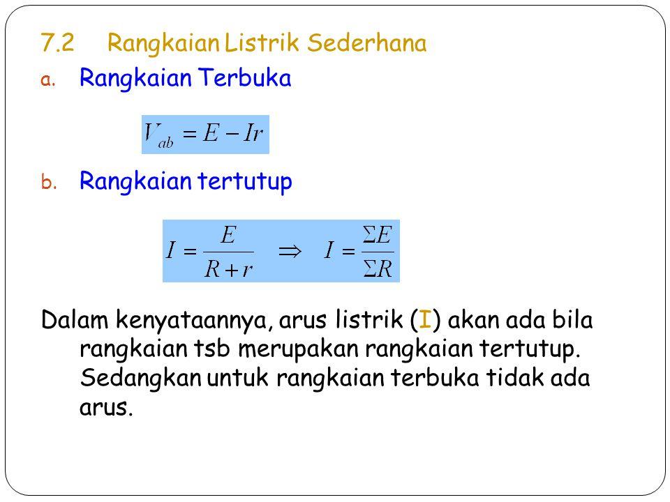 7.2 Rangkaian Listrik Sederhana