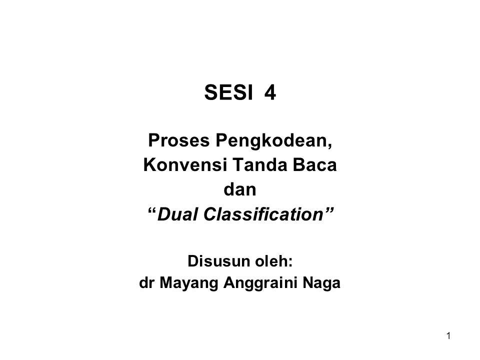 Dual Classification dr Mayang Anggraini Naga