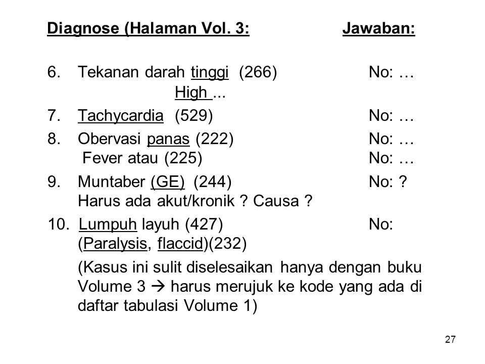 Diagnose (Halaman Vol. 3: Jawaban: