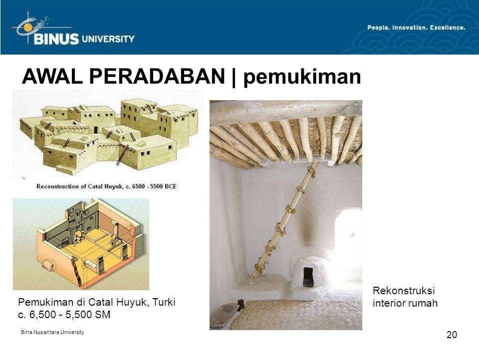 AWAL PERADABAN | pemukiman